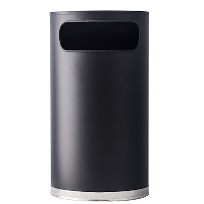 9 Gallon Half Round Waste Container