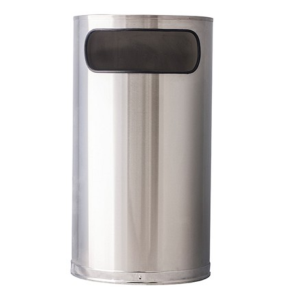 9 Gallon Stainless Steel Half Round Waste Container