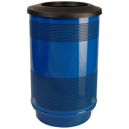 55-Gallon Perforated Waste Receptacle with Flat Top