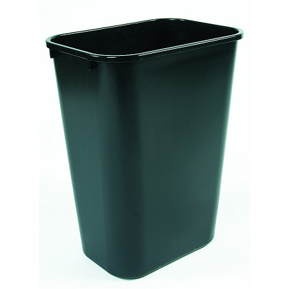 This Small Plastic Trash Can Makes The Perfect Office Bin 41 Quart Waste Baskets