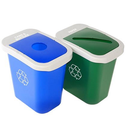 7 Gallon Deskside Sorter Recycling and Waste Combo