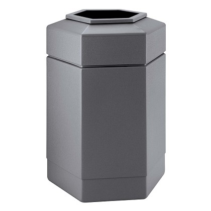 Hex 30 Gallon Trash Container