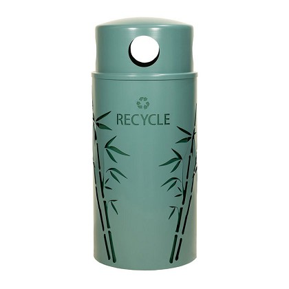 Nature Series 33 Gallon Recycling Receptacle - Bamboo