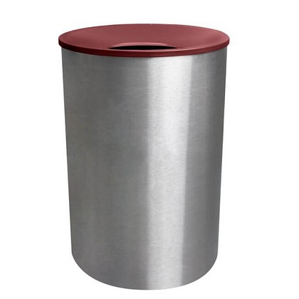 Premier Stainless Steel Waste Receptacle with Color Top