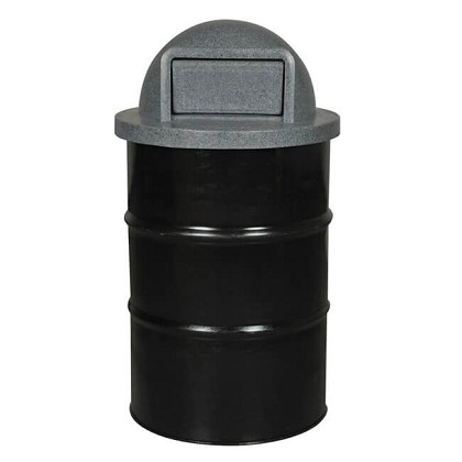 Parks and Recreation Steel Drum Container | Optional Push-Door Lid