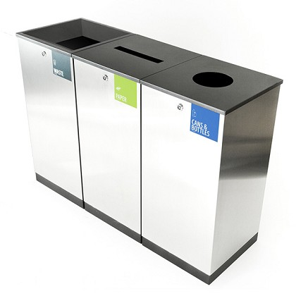 Edge Three-Stream Recycling & Waste Station
