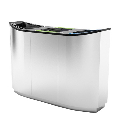 Wave Triple Stream Waste & Recycling Container