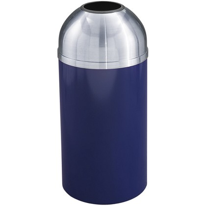Mount Everest Waste Receptacle with Open Dome-Top, 16 Gal