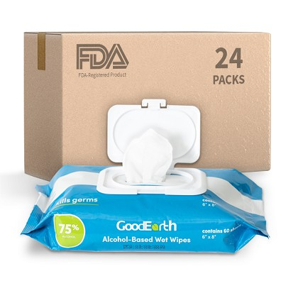 FDA Registered 75% Alcohol Travel Pull-Wipe Pouches