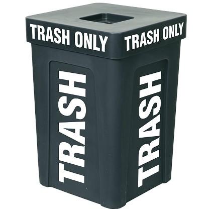 48 gallon trash can plastic outdoor trash can