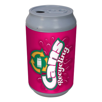 Big Can Recycler - 'Pink Pop!' Aluminum Cans Recycling