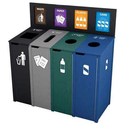 The Chesterfield Slim Quadruple Recycling Station