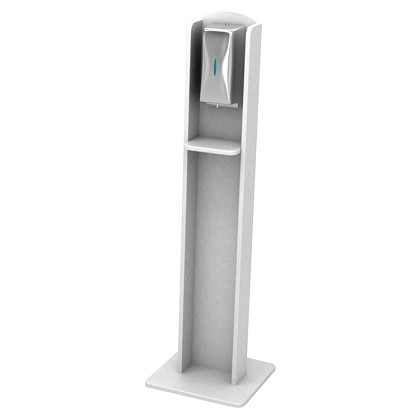 Nash Laminate Sanitizing Stand | Automatic Dispenser | White