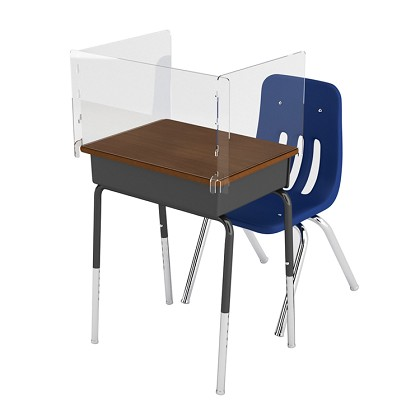 "Student Desk Shield | 1/8""-Thick Polycarbonate Plastic"