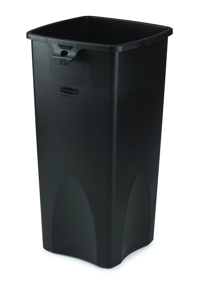 23 gallon untouchable square trash container trashcans warehouse. Black Bedroom Furniture Sets. Home Design Ideas
