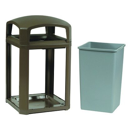 35-Gallon Landmark Classic Container, Dome Top Frame