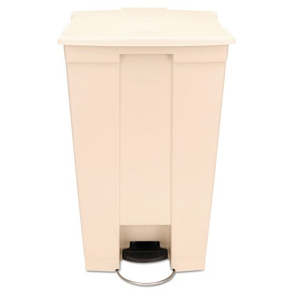 23 Gallon Step-on Trash Can with Wheels in Beige