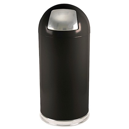 Push-Top Standard Dome Trashcan in Designer Colors