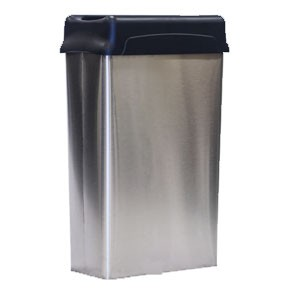 Modern Drop-Top Stainless Steel Rectangular Wastebasket