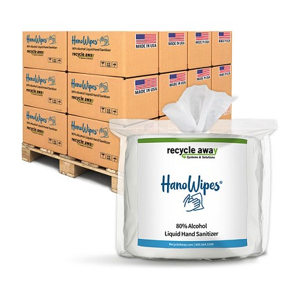 HanoWipes Full-Pallet 80% Alcohol Hand and Surface Wipes